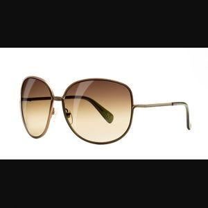 Diane Von Furstenburg Brown Big Sunglasses